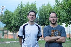 Iván Cacciamani junto a Sebastián Bruno, el Coordinador General de la escuela de verano de Murialdo.